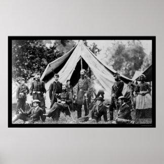 第5軍隊はJames川1862年の近くで本部に置きます ポスター