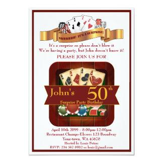 第50の誕生日の人のカジノ、賭けるパーティー、ラスベガス カード