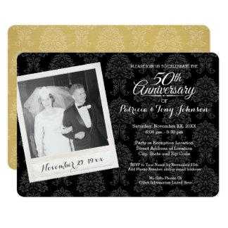 第50ヴィンテージの写真との結婚記念日 カード