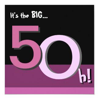 第50大きい5Ohを飾って下さい! 誕生日のパーティの招待状 カード