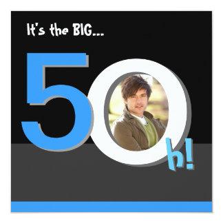 第50大きい5Oh! 写真テンプレートの誕生会 カード