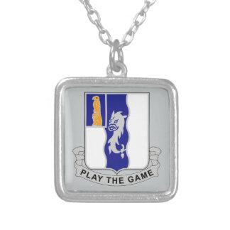 第50歩兵連隊-ゲームを遊んで下さい シルバープレートネックレス