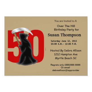 第50死神の誕生日の招待状 カード