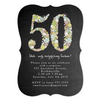 第50第50誕生会の招待を驚かして下さい カード