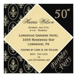 第50第59誕生日の招待状 カード