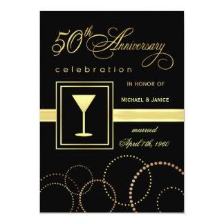 第50結婚記念日のお祝い-モダン 12.7 X 17.8 インビテーションカード