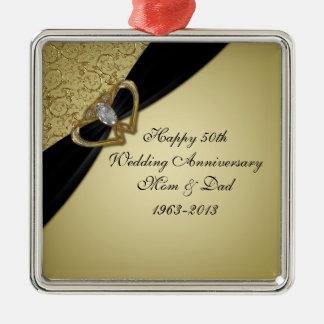 第50結婚記念日のオーナメント メタルオーナメント