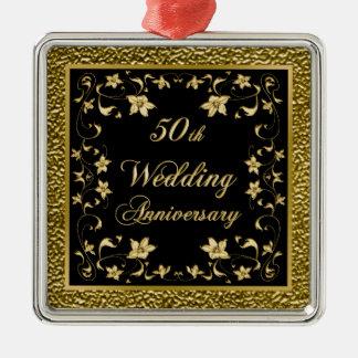 第50結婚記念日のクリスマスのオーナメント メタルオーナメント