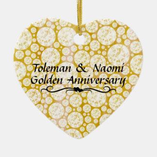 第50結婚記念日のダイヤモンド名前入りな| セラミックオーナメント