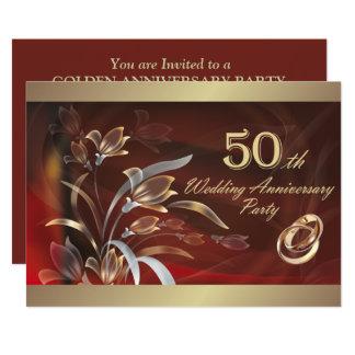 第50結婚記念日のパーティの招待状 カード