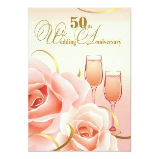 第50結婚記念日のパーティの招待状 12.7 X 17.8 インビテーションカード