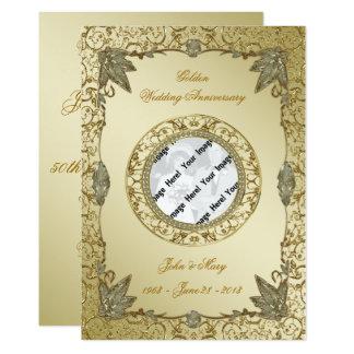 第50結婚記念日の写真の招待状カード 12.7 X 17.8 インビテーションカード