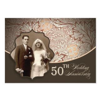第50結婚記念日の写真の招待状 カード