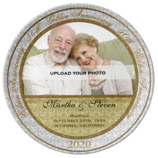 第50結婚記念日の写真 磁器プレート