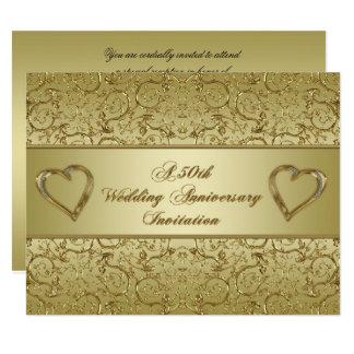 第50結婚記念日の招待状カード 10.8 X 14 インビテーションカード