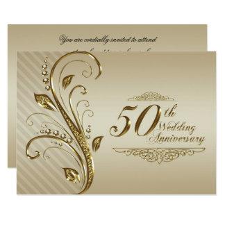 第50結婚記念日の招待状カード 11.4 X 15.9 インビテーションカード