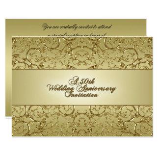 第50結婚記念日の招待状カード 12.7 X 17.8 インビテーションカード