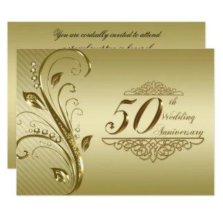 第50結婚記念日の招待状カード 16.5 X 22.2 インビテーションカード