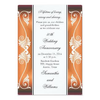 第50結婚記念日の招待状 カード