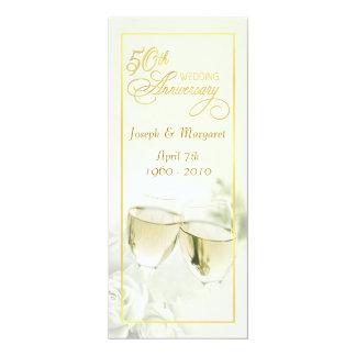 第50結婚記念日の招待状-高いアイボリー 10.2 X 23.5 インビテーションカード