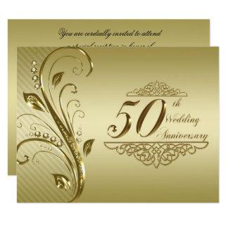 第50結婚記念日の招待状 10.8 X 14 インビテーションカード