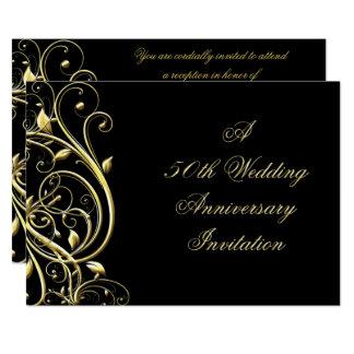 第50結婚記念日の招待状 12.7 X 17.8 インビテーションカード
