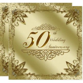 第50結婚記念日の招待状 13.3 スクエアインビテーションカード