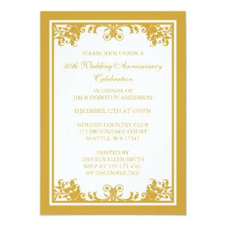 第50結婚記念日の金華麗さスクロール 12.7 X 17.8 インビテーションカード
