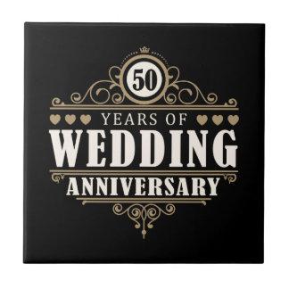 第50結婚記念日 タイル