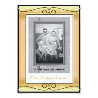 第50結婚記念日 12.7 X 17.8 インビテーションカード