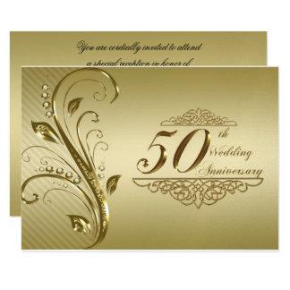 第50結婚記念日RSVPカード 8.9 X 12.7 インビテーションカード