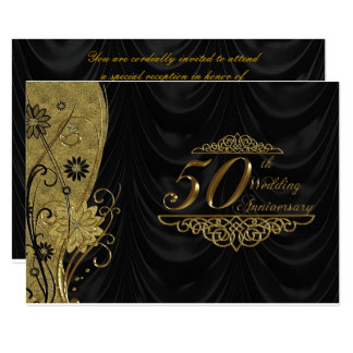 第50結婚記念日RSVP 12.7 X 17.8 インビテーションカード