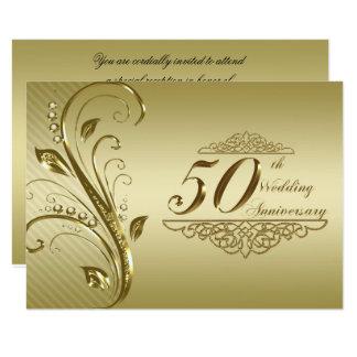 第50結婚記念日RSVP 8.9 X 12.7 インビテーションカード