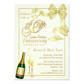 第50記念パーティー-契約の招待状 カード