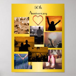 第50記念日のための写真のコラージュ ポスター