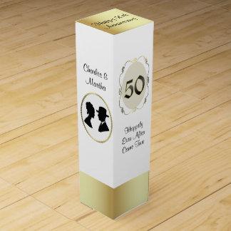 第50記念日のギフトのワイン箱 ワインボトル ギフトボックス
