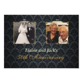 第50記念日の結婚式の写真の招待状 12.7 X 17.8 インビテーションカード