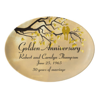 第50記念日の記念する大皿 磁器大皿