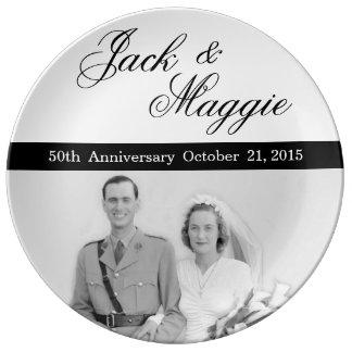 第50記念日|の記念するプレート 磁器製 皿