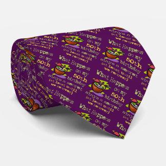 第50誕生会のギフト。 起こる何が私の第50で オリジナルネクタイ