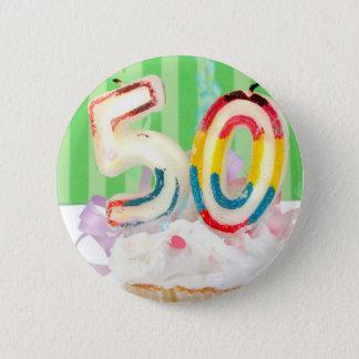 第50誕生会の挨拶 5.7CM 丸型バッジ