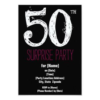 第50誕生会の紙の招待状 カード