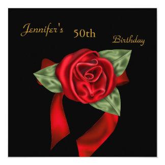 第50誕生会の赤く黒く赤い豪奢上がりました カード