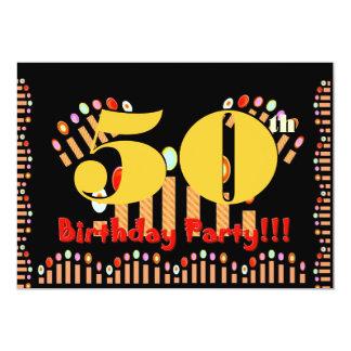 第50誕生会は招待状のテンプレートの良否を明りにすかして調べます カード
