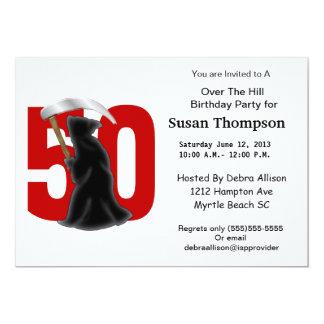 第50誕生日のおもしろいな死神 カード