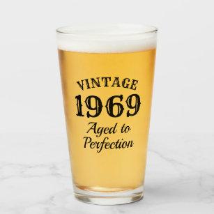 第50誕生日のためのヴィンテージビー タンブラーグラス