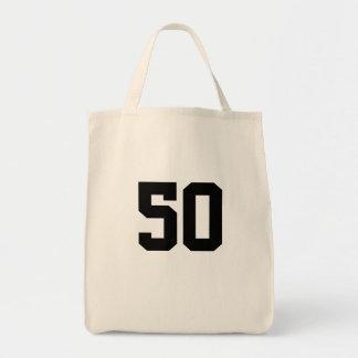 第50誕生日のギフトバッグ トートバッグ