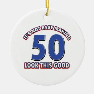 第50誕生日のデザイン セラミックオーナメント