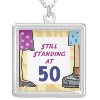 第50誕生日のネックレス シルバープレートネックレス