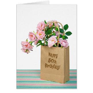 第50誕生日のバッグ カード